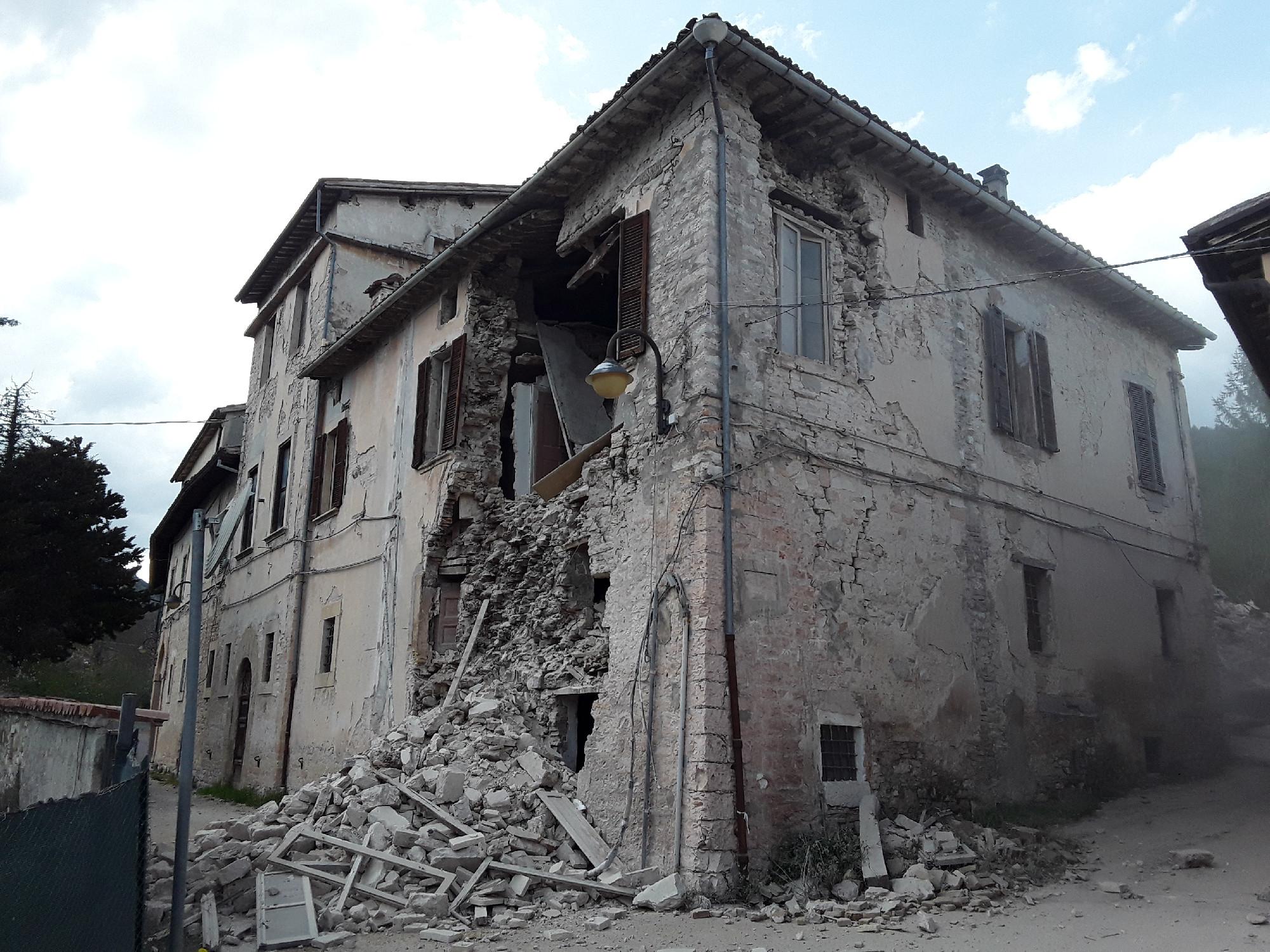 Terremoto a Pieve Torina di magnitudo 3.4 stanotte