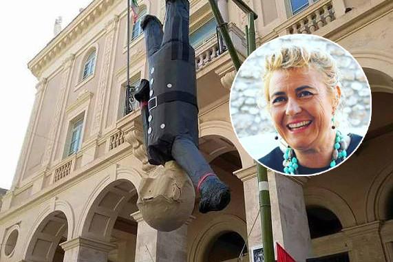Macerata, fantoccio del Duce, sindaco furioso con la Mussolini: