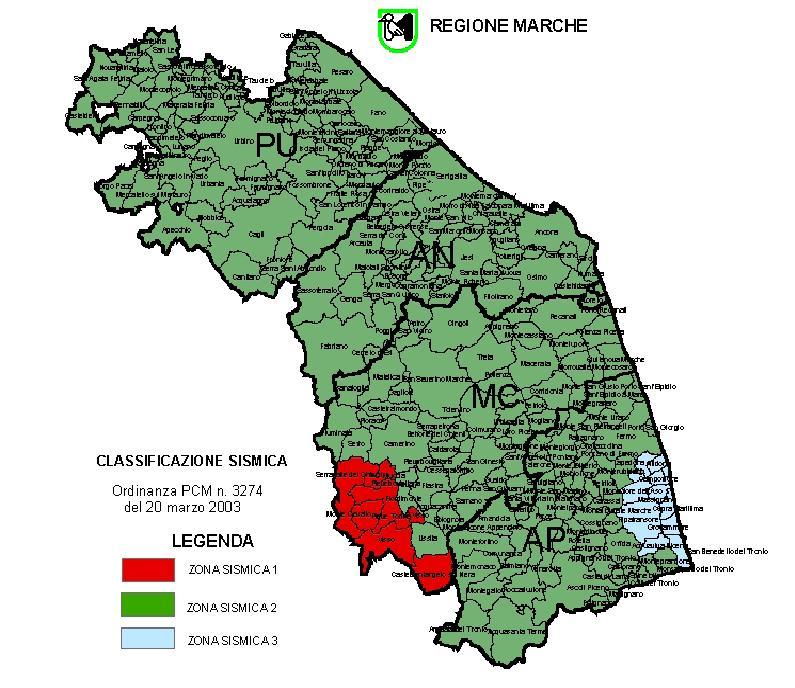 Cartina Zone Sismiche Italia.Terremoto La Mappa Completa Della Classificazione Sismica Dei Comuni Marchigiani Picchio News Il Giornale Tra La Gente Per La Gente