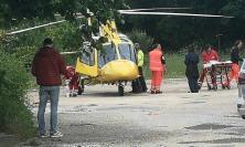 Gagliole, cade con la moto: trasportato a Torrette in eliambulanza