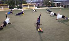 Cantine Riunite Tolentino, la prima squadra torna ad allenarsi all'aperto