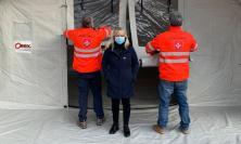 San Severino, continua la campagna vaccinale: installata tenda per gli anziani