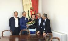 """San Ginesio, De Micheli e Borrelli in visita: """"Scuola, la prima pietra la terza settimana di maggio"""""""