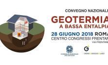 """""""Geotermia a Bassa Entalpia"""", il 28 giugno un convegno organizzato dal Consiglio Nazionale dei Geologi"""