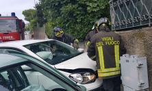 Recanati, scontro fra due auto in via Beato Gherarducci