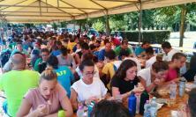 Centinaia di giovani e pellegrini in cammino verso Loreto a San Firmano