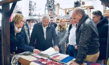 Potenza Picena, l'imprenditore Loro Piana in visita al monastero dell'Addolorata