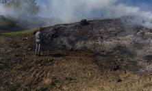 San Severino, agricoltore genera incendio coi residui della potatura degli ulivi: in fiamme 400 metri quadri di bosco
