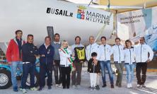 San Severino, La Superba J24 della Marina Militare campione d'Europa fa tappa da Olicor
