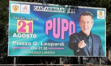 Recanati, Pupo in concerto in Piazza Leopardi mercoledì 21 agosto