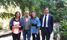 San Ginesio, il sindaco Ciabocco incontra lo chef Barbieri
