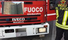 Porto Recanti, incendio al quarto piano dell'Hotel House