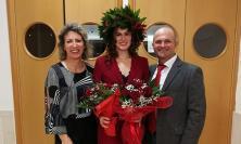 Elisa Pelati dottoressa con lode in Dietistica: la dedica va al nonno Gigio