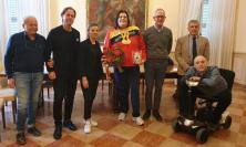 Civitanova, la campionessa paralimpica Assunta Legnante riceve lo stemma del Comune