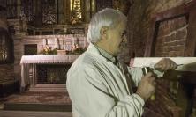 La scritta nell'Altare nella Santa Casa di Loreto riscolpita dal Maestro recanatese Malleus