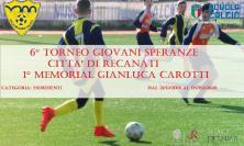 Recanati, 6° Torneo Giovani Speranze 1° Memorial Gianluca Carotti: i quarti di finale