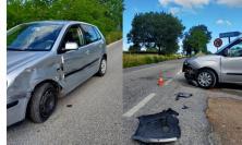 San Severino, scontro ad alta velocità tra due auto all'altezza dell'incrocio per Maricella (FOTO)