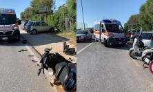 Porto Recanati, scontro tra due scooter: i conducenti finiscono al pronto soccorso, non sono gravi