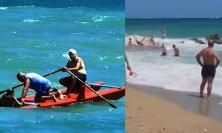 Porto Recanati, mare mosso: doppio salvataggio a buon fine