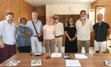 Recanati, inaugurato il punto di distribuzione per raccolta differenziata a Montefiore