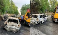 Mogliano, due auto in fiamme dopo un incidente: tre feriti al Pronto Soccorso (FOTO)