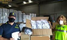 Sequestrate al porto di Ancona diecimila mascherine fatte in Albania