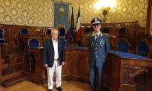 Macerata, il presidente della Provincia riceve il nuovo comandante della Guardia di Finanza