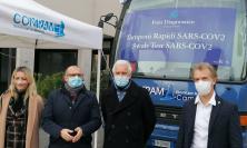"""Macerata, il bus tamponi parcheggia a Villalba: """"servizio volto a snellire la sanità pubblica """""""