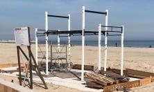Civitanova, la palestra si sposta in spiaggia: da domani doppia area fitness sul lungomare