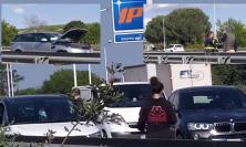 Tolentino, scontro fra tre auto in superstrada: traffico bloccato (FOTO)
