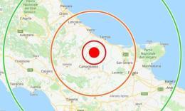 Sisma di magnitudo 4.7 nel Molise: la scossa avvertita anche nelle Marche