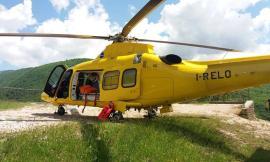 Apiro, precipita in bici dal sentiero del Monte Canfaito: uomo trasportato a Torrette