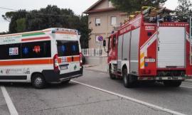 Maddalena di Muccia, scontro tra un camion e un'auto: sul posto 118 e Vigili del Fuoco