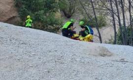 Fiastra, donna cade alle Lame Rosse durante un'escursione: interviene l'eliambulanza