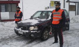 Carabinieri all'opera sul territorio per l'emergenza neve