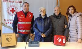 La famiglia di Stefano Amici ha donato un defibrillatore alla Cri di Camerino