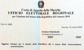 """Pazzaglini in partenza per il Senato: """"Non perderò il contatto con il territorio"""""""