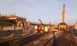 Crollo A14: concluso varo del nuovo ponte