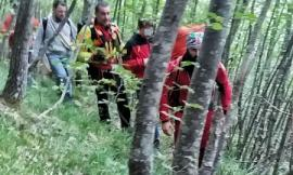 Fiuminata, 15enne cade nella scarpata: salvato dalle squadre di soccorso
