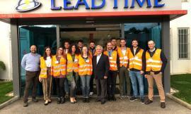 Il Gruppo Giovani di Confindustria Macerata alla fonderia Lead Time Spa di Caldarola