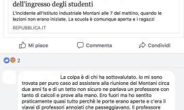 """Crollo al Montani, commento choc su Repubblica: """"Un professore aveva lanciato l'allarme. Non è stato ascoltato"""""""
