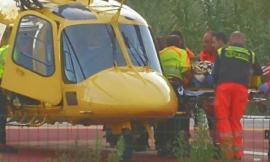 Matelica, incidente sul lavoro: operaio trasportato in elicottero a Torrette