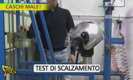 Caschi per motociclisti pericolosi: Striscia fa visita a un'azienda di Caldarola (FOTO e VIDEO)