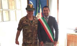 Il sindaco di Pieve Torina a Vipiteno per la festa di corpo del 5° reggimento degli alpini