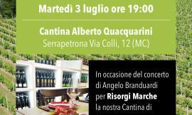 Per Risorgi Marche si brinda alla cantina Alberto Quacquarini