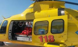 Scontro moto contro auto a Sarnano: un centauro è stato trasportato a Torrette