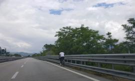 In bicicletta in superstrada: multato dalla polizia stradale