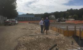 Ultimati fondamenta e piano terra dei laboratori dell'ITIS di San Severino Marche