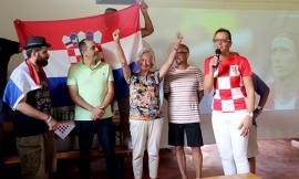 Da tutta Europa alla cantina Volverino di Mogliano per tifare Croazia - FOTO