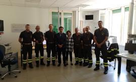 Macerata, il prefetto Preziotti in visita al comando dei vigili del fuoco